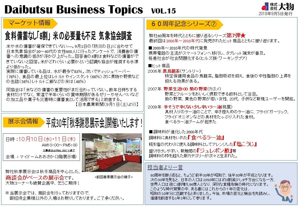 Daibutsu Business Topics Vol.15