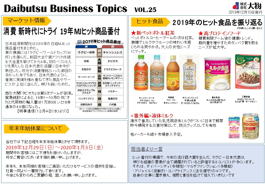Daibutsu Business Topics Vol.25
